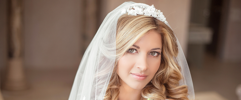 Bridal Blowout with Veil