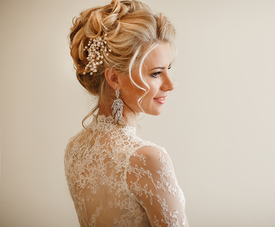 Bridal Upstyle with Veil